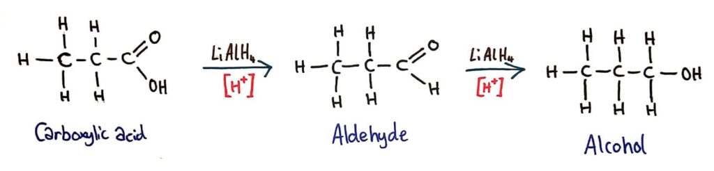 Reduction of carboxylic acid